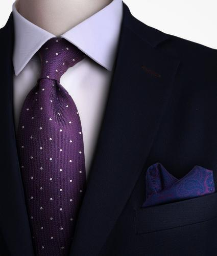 Shirt Dotted purple tie - silk The Shirt Factory