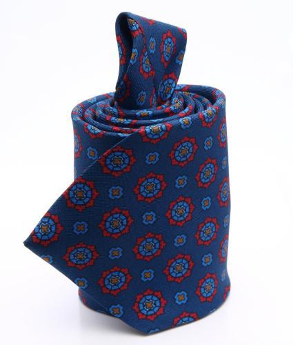 Shirt Patterned blue tie - silk The Shirt Factory