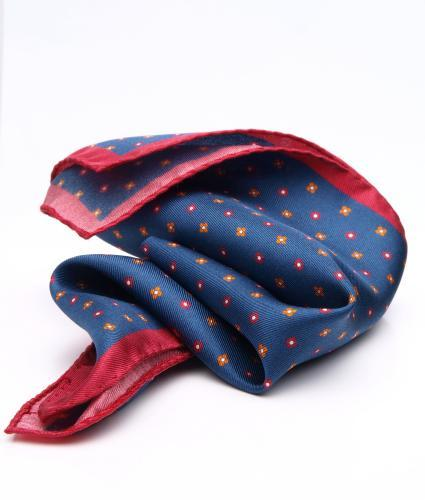 Shirt Navy mini floral pocket square - silk The Shirt Factory