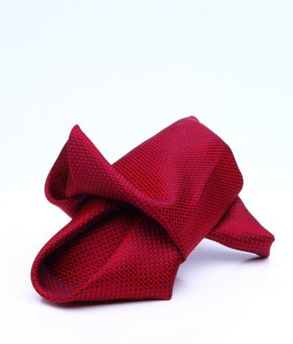 Shirt Micro pattern red pocket square - silk The Shirt Factory