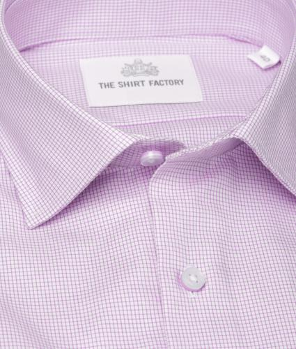 Shirt Dublin Strykfri Lila The Shirt Factory