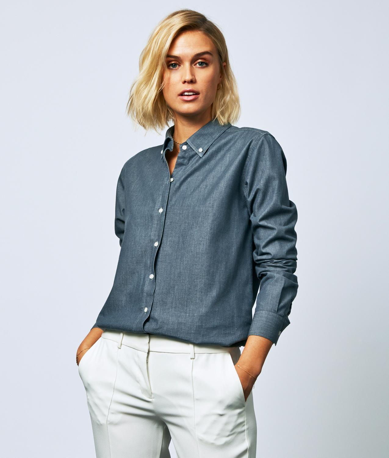 Skjorta Mickan York Denim The Shirt Factory