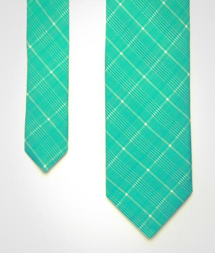 Shirt Green checked silk tie The Shirt Factory